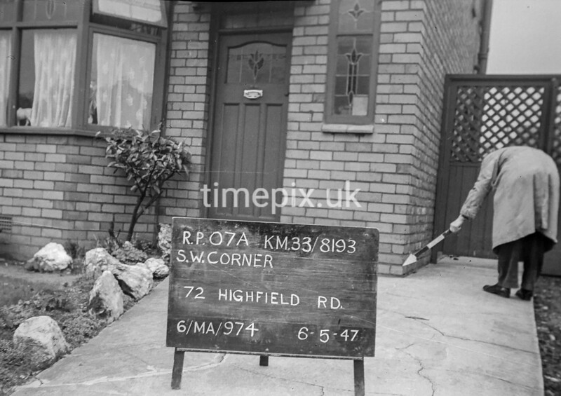 SJ819307A, Ordnance Survey Revision Point photograph in Greater Manchester