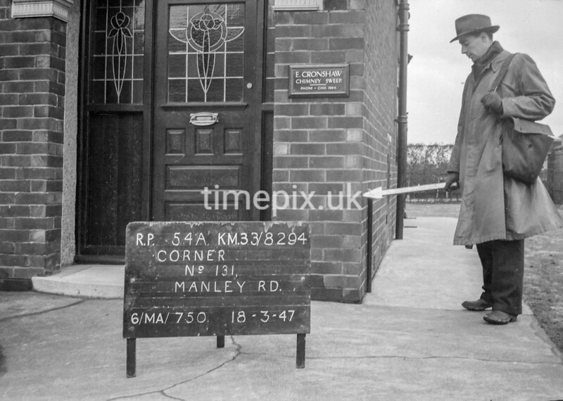 SJ829454A, Ordnance Survey Revision Point photograph in Greater Manchester