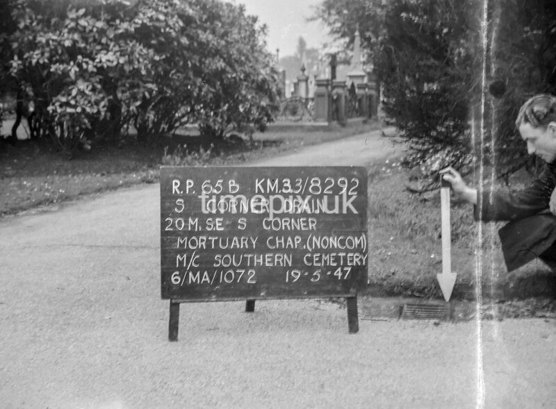 SJ829265B, Ordnance Survey Revision Point photograph in Greater Manchester