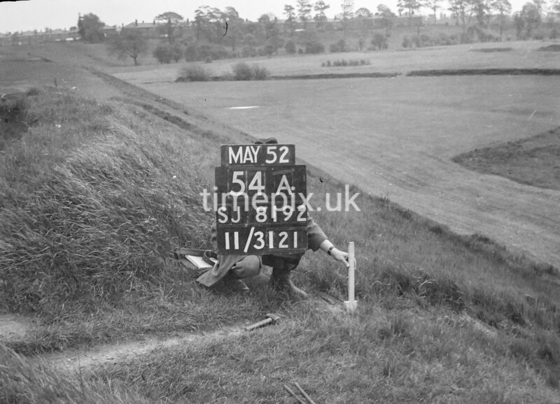 SJ819254A, Ordnance Survey Revision Point photograph in Greater Manchester