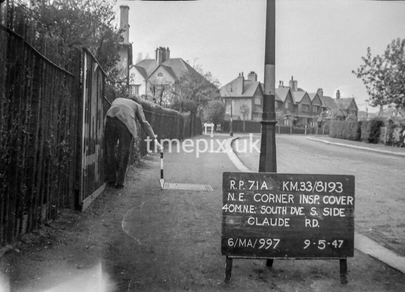 SJ819371A, Ordnance Survey Revision Point photograph in Greater Manchester