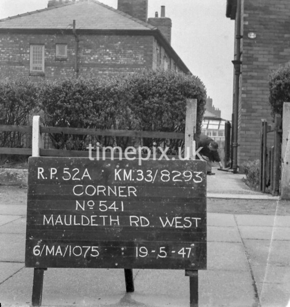 SJ829352A, Ordnance Survey Revision Point photograph in Greater Manchester