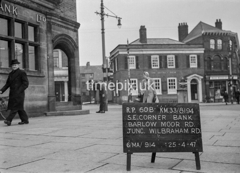 SJ819460B, Ordnance Survey Revision Point photograph in Greater Manchester
