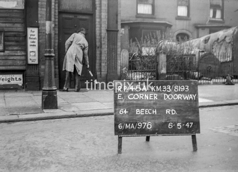 SJ819345A, Ordnance Survey Revision Point photograph in Greater Manchester