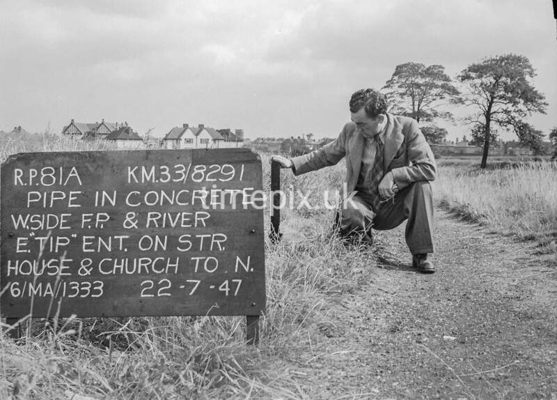 SJ829181A, Ordnance Survey Revision Point photograph in Greater Manchester