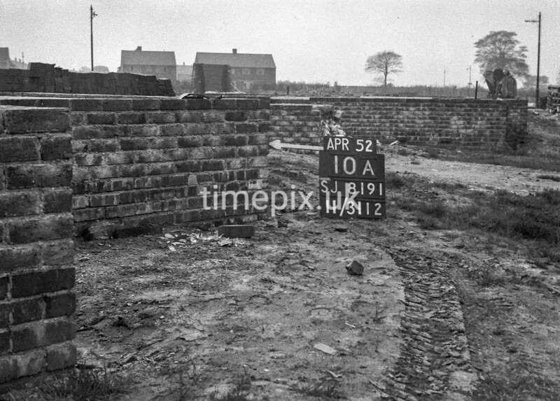 SJ819110A, Ordnance Survey Revision Point photograph in Greater Manchester