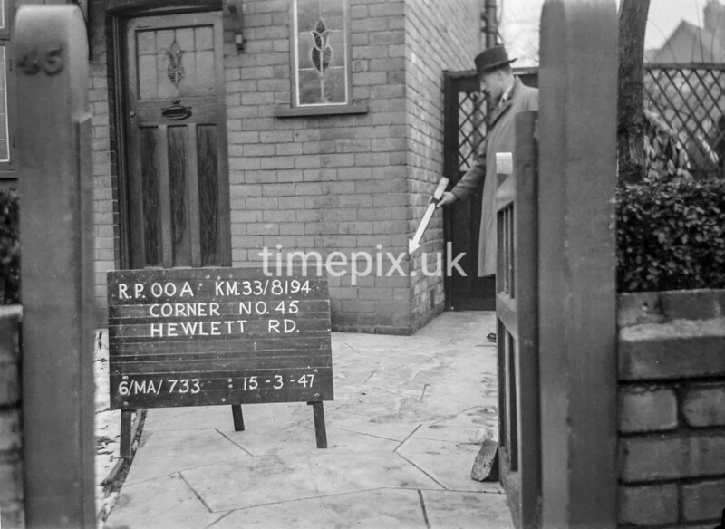 SJ819400A, Ordnance Survey Revision Point photograph in Greater Manchester