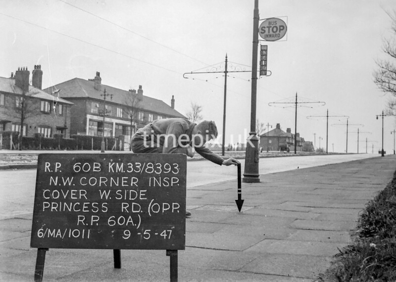 SJ839360B, Ordnance Survey Revision Point photograph in Greater Manchester