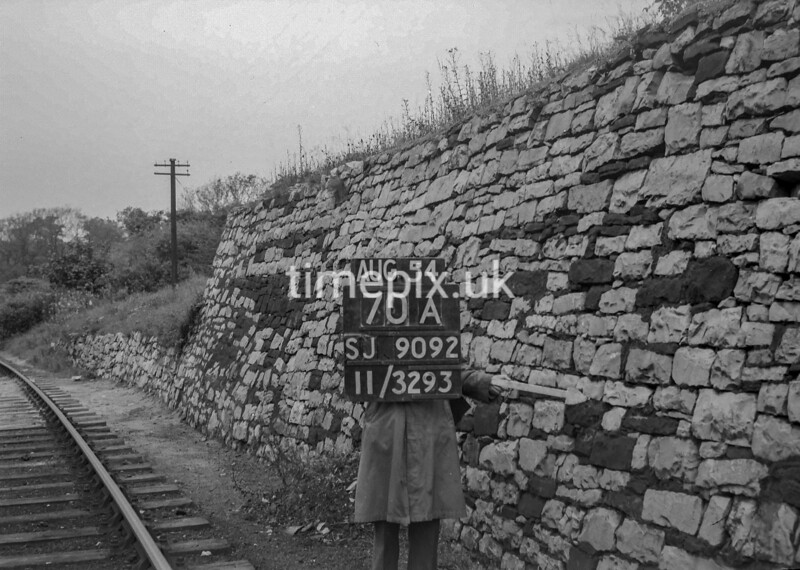 SJ909270A, Ordnance Survey Revision Point photograph in Greater Manchester