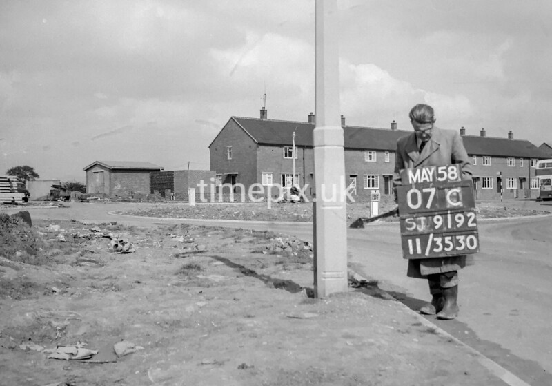 SJ919207C, Ordnance Survey Revision Point photograph in Greater Manchester