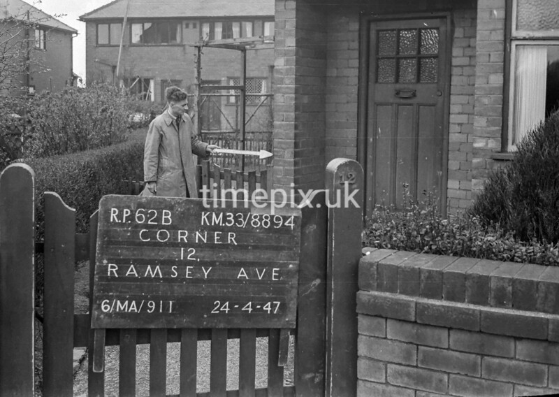 SJ889462B, Ordnance Survey Revision Point photograph in Greater Manchester