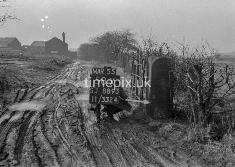 SJ889358X, Ordnance Survey Revision Point photograph in Greater Manchester