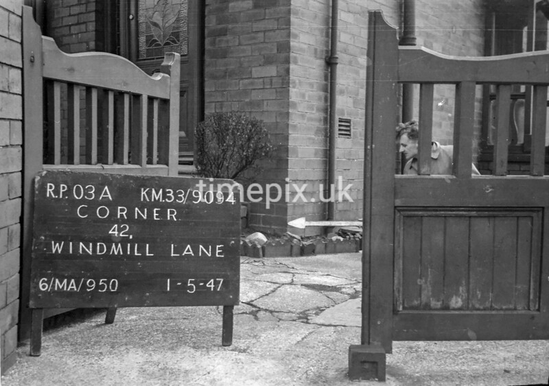 SJ909403A, Ordnance Survey Revision Point photograph in Greater Manchester
