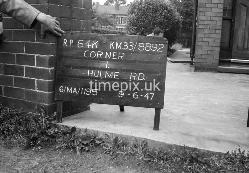 SJ889264K, Ordnance Survey Revision Point photograph in Greater Manchester