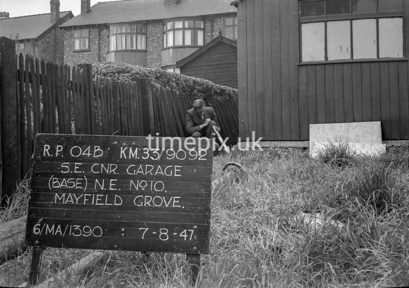 SJ909204B, Ordnance Survey Revision Point photograph in Greater Manchester