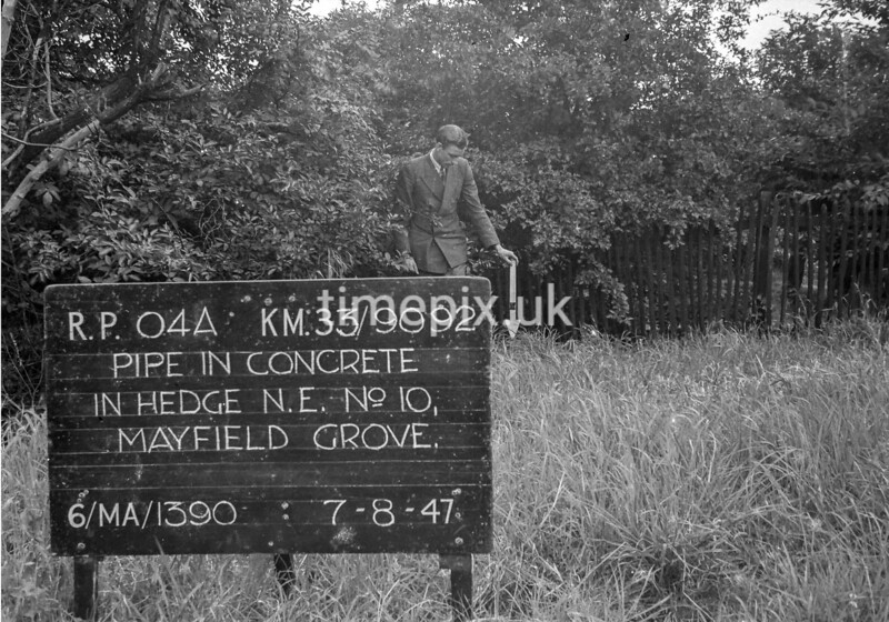 SJ909204A, Ordnance Survey Revision Point photograph in Greater Manchester