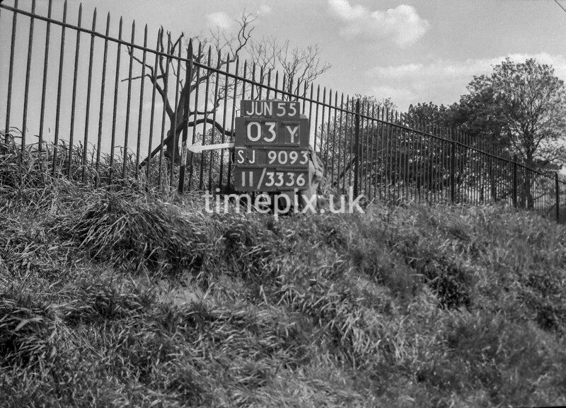 SJ909303Y, Ordnance Survey Revision Point photograph in Greater Manchester