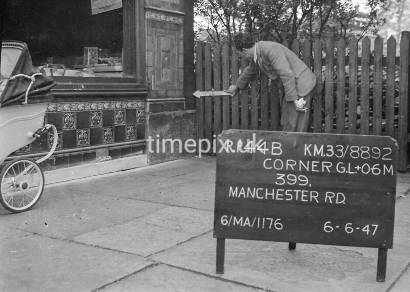 SJ889244B, Ordnance Survey Revision Point photograph in Greater Manchester