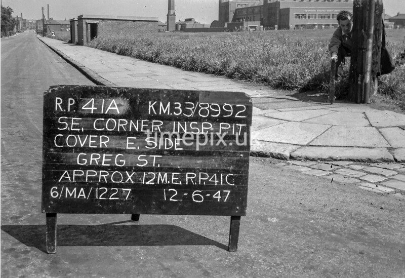 SJ899241A, Ordnance Survey Revision Point photograph in Greater Manchester