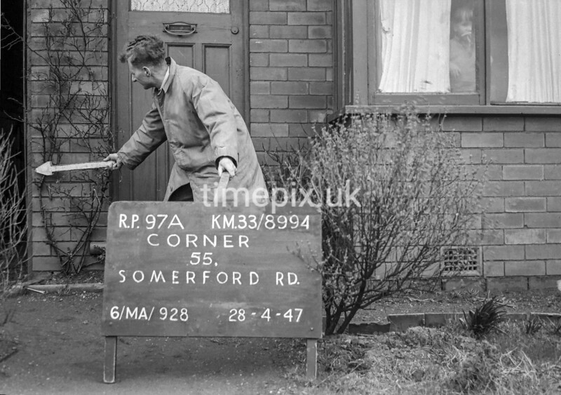 SJ899497A, Ordnance Survey Revision Point photograph in Greater Manchester