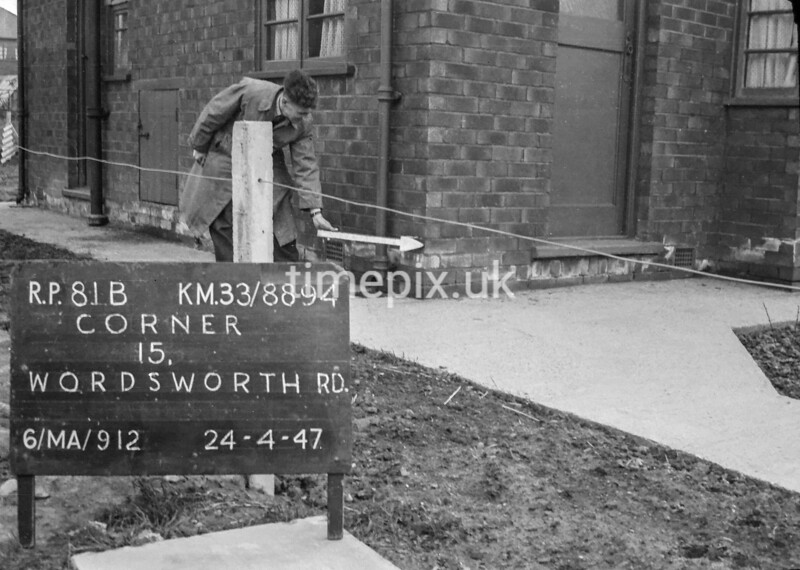 SJ889481B, Ordnance Survey Revision Point photograph in Greater Manchester