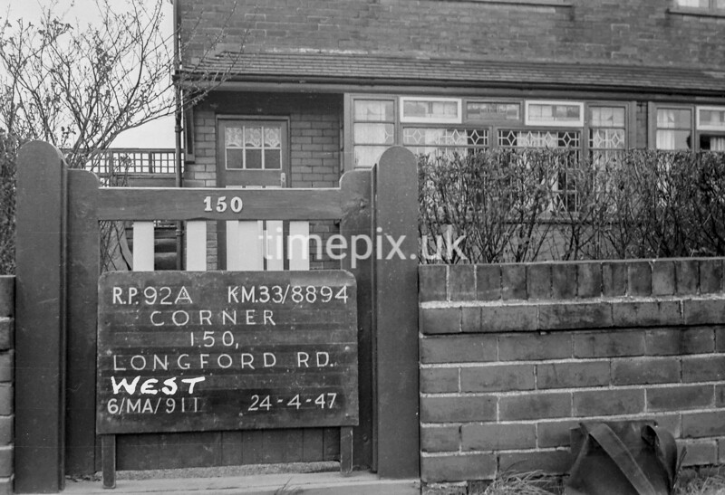 SJ889492A, Ordnance Survey Revision Point photograph in Greater Manchester