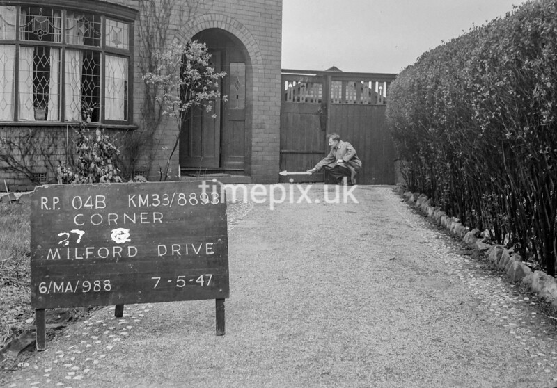 SJ889304B, Ordnance Survey Revision Point photograph in Greater Manchester