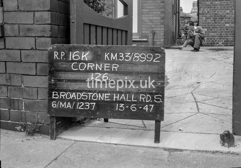 SJ899216K, Ordnance Survey Revision Point photograph in Greater Manchester