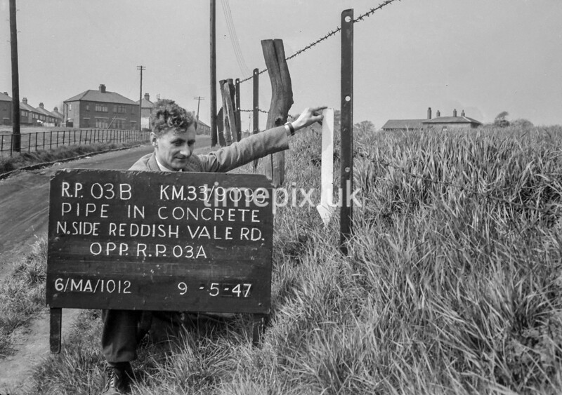 SJ909303B, Ordnance Survey Revision Point photograph in Greater Manchester