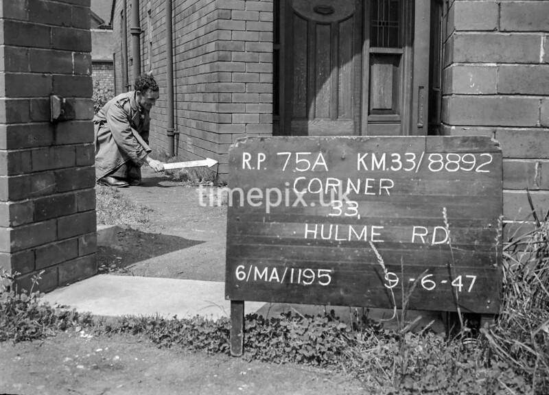 SJ889275A, Ordnance Survey Revision Point photograph in Greater Manchester