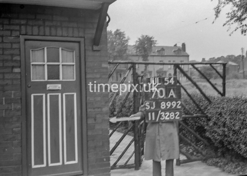 SJ899270A, Ordnance Survey Revision Point photograph in Greater Manchester