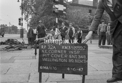 SJ889232A, Ordnance Survey Revision Point photograph in Greater Manchester