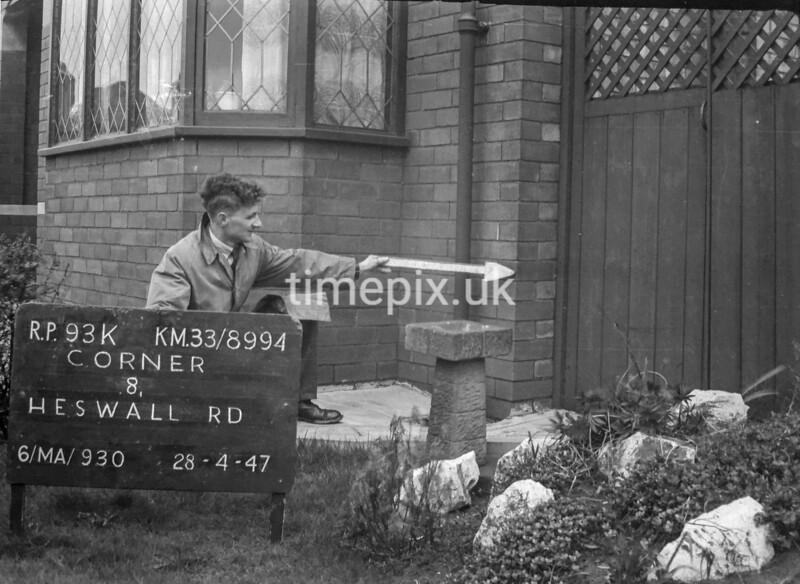SJ899493K, Ordnance Survey Revision Point photograph in Greater Manchester