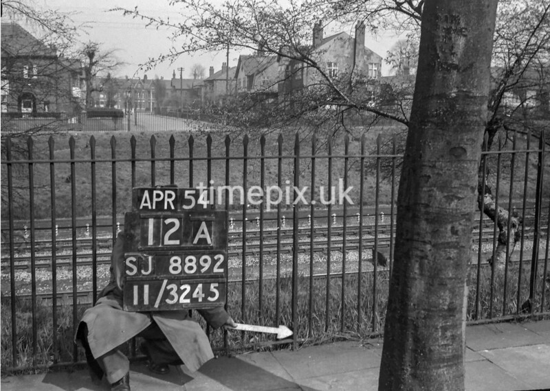 SJ889212A, Ordnance Survey Revision Point photograph in Greater Manchester