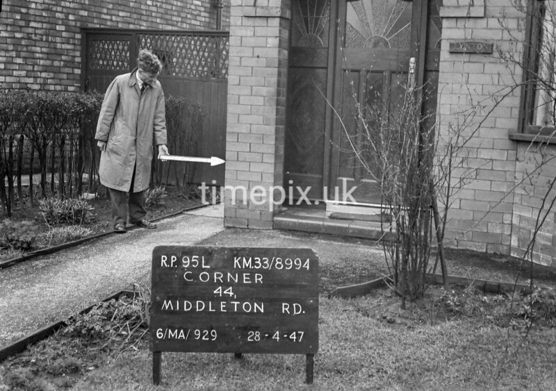 SJ899495L, Ordnance Survey Revision Point photograph in Greater Manchester