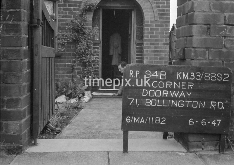 SJ889294B, Ordnance Survey Revision Point photograph in Greater Manchester