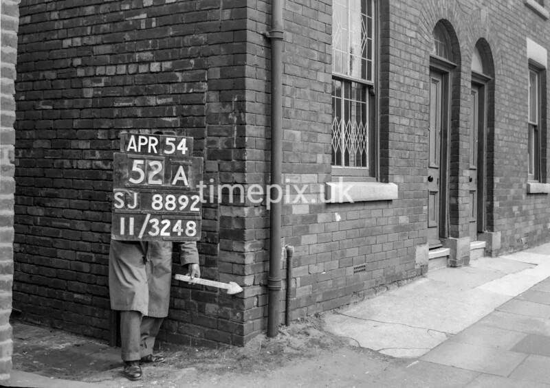 SJ889252A, Ordnance Survey Revision Point photograph in Greater Manchester