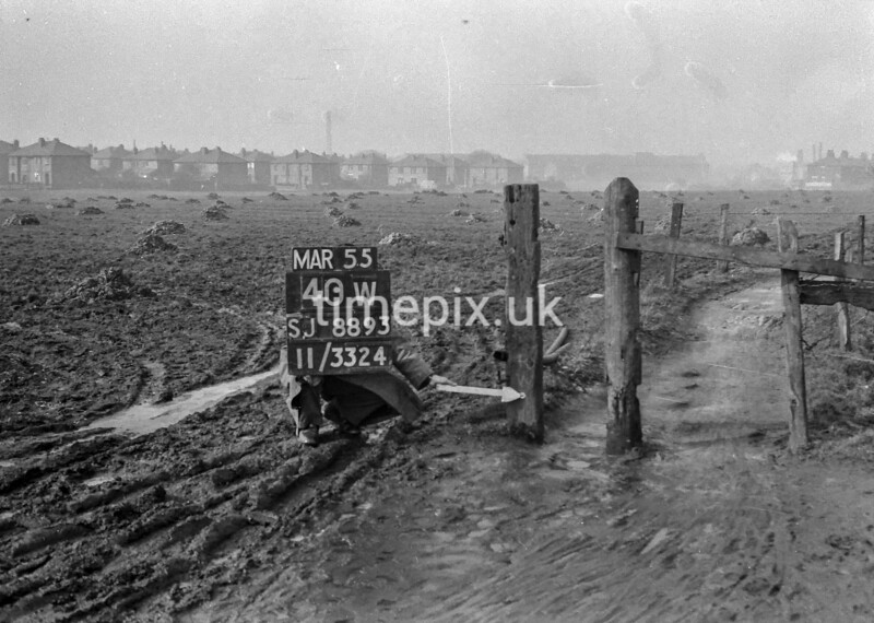 SJ889340W, Ordnance Survey Revision Point photograph in Greater Manchester