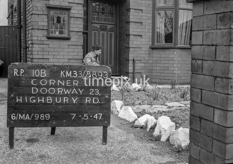 SJ889310B, Ordnance Survey Revision Point photograph in Greater Manchester