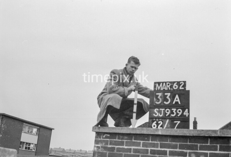 SJ939433A, Ordnance Survey Revision Point photograph in Greater Manchester