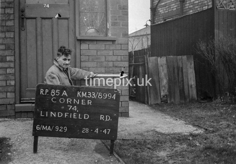 SJ899485A, Ordnance Survey Revision Point photograph in Greater Manchester