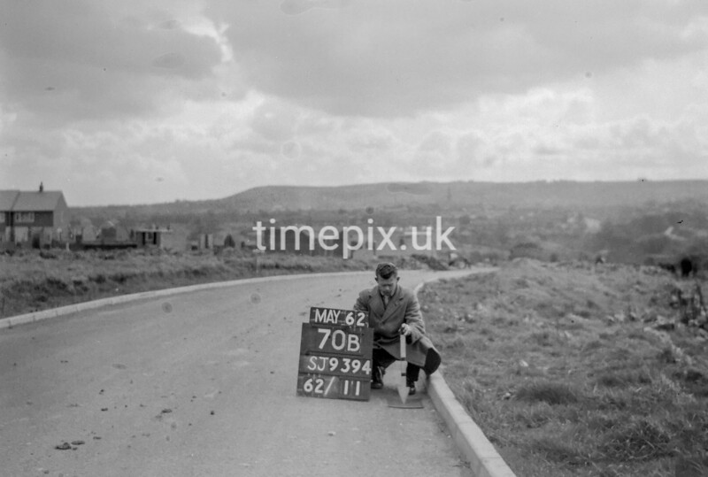 SJ939470B, Ordnance Survey Revision Point photograph in Greater Manchester