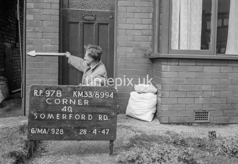 SJ899497B, Ordnance Survey Revision Point photograph in Greater Manchester