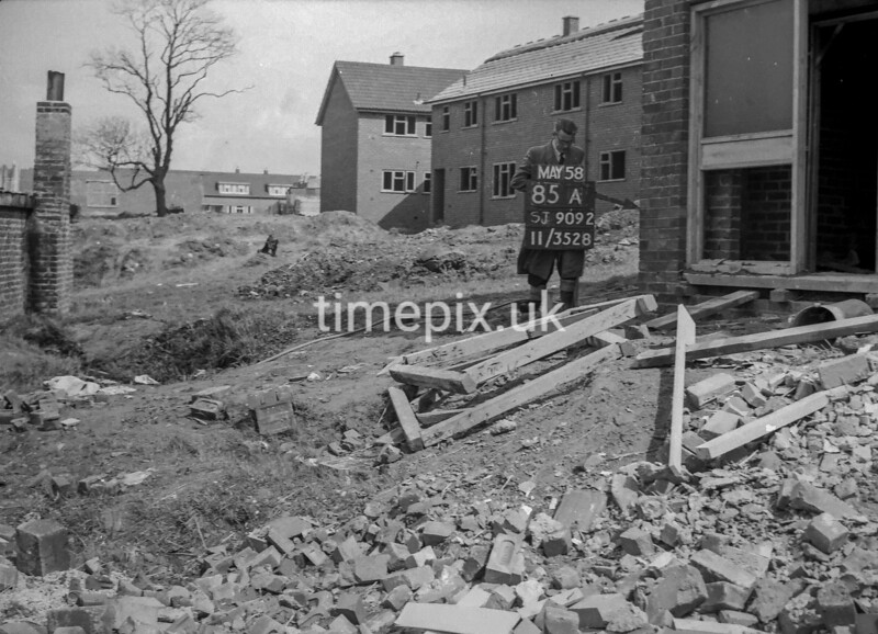 SJ909285A, Ordnance Survey Revision Point photograph in Greater Manchester