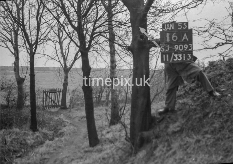 SJ909316A, Ordnance Survey Revision Point photograph in Greater Manchester
