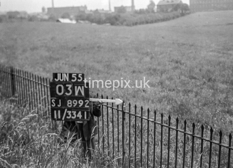 SJ899203W, Ordnance Survey Revision Point photograph in Greater Manchester