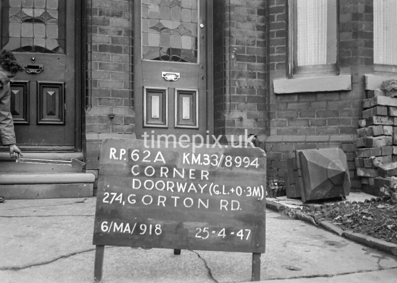 SJ899462A, Ordnance Survey Revision Point photograph in Greater Manchester