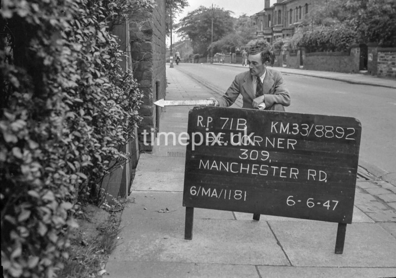 SJ889271B, Ordnance Survey Revision Point photograph in Greater Manchester