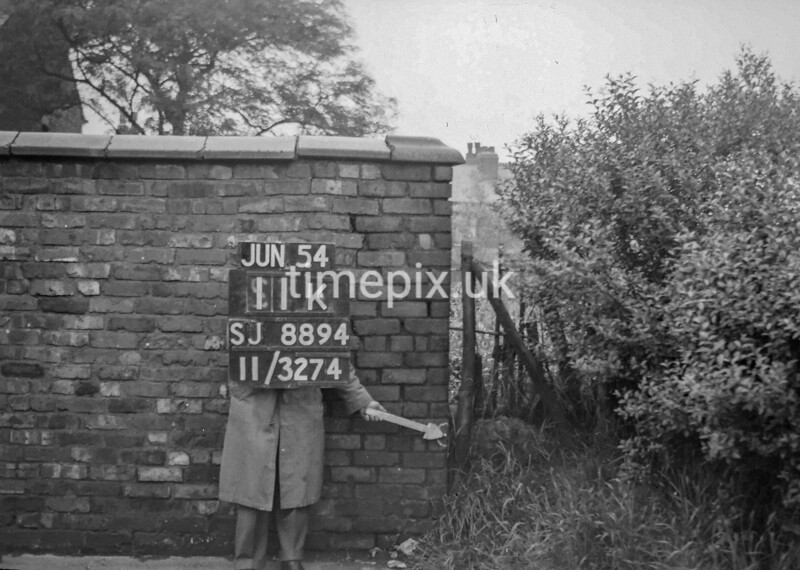 SJ889411K, Ordnance Survey Revision Point photograph in Greater Manchester