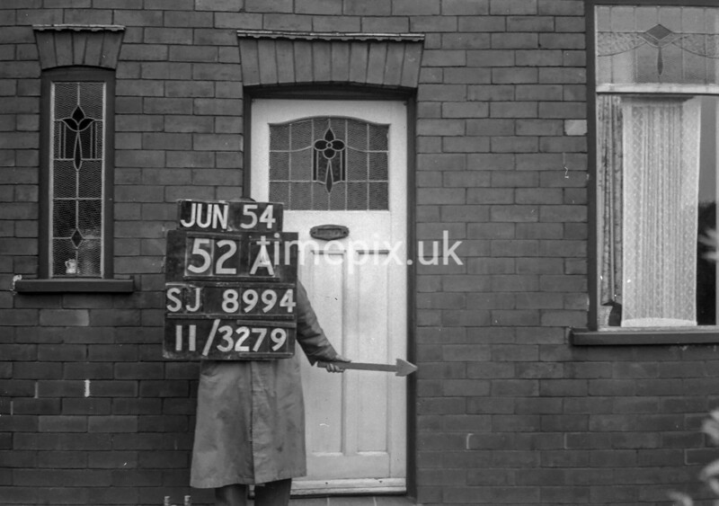 SJ899452A, Ordnance Survey Revision Point photograph in Greater Manchester